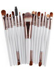 Stylish Multifunction 15 Pcs Plastic Handle Nylon Makeup Brushes Set -