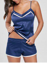 Satin Cami Sleepwear Set - DEEP BLUE