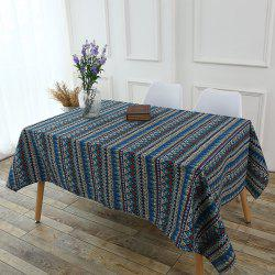 Bohemia Zigzag Printed Tablecloth - COLORFUL
