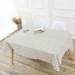 Plaids Patterned Kitchen Decor Tablecloth - WHITE