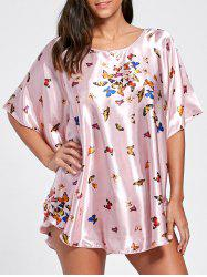 Batwing Sleeve Tunic Pajama Top -