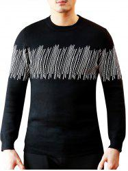 Lines Pattern Crew Neck Sweater