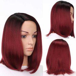 Medium Side Part Colormix Ombre Straight Bob Synthetic Wig