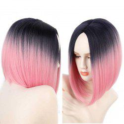 Short Center Part Straight Ombre Inverted Bob Synthetic Wig