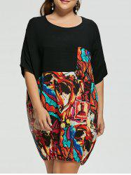 Plus Size Funny Printed Baggy Dress