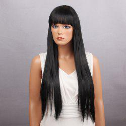 Long Full Bang Silky Straight Synthetic Wig