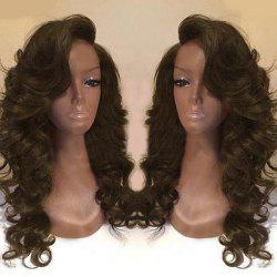 Deep Side Part Long Body Wave Synthetic Wig - BROWN