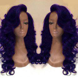 Deep Side Part Long Body Wave Synthetic Wig - PURPLE