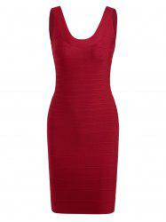 Club Sleeveless Mini Bandage Fitted Tight Dress