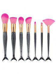 7Pcs Mermaid Tail Plating Handle Makeup Brushes Set