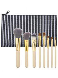Kit de pinceaux à maquillage à usage multiple portable de 8 pcs - Noir