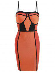 Spaghetti Night Out Bandage Dress -