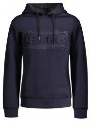 Letter Embossed Thick Hoodie