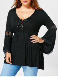 Plus Size Flared Sleeve Empire Waist T-shirt