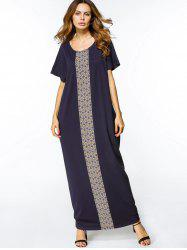 Geometric Print Loose Maxi Dress -
