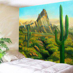 Wall Art Cactus Hill Painted Hanging Tapestry -