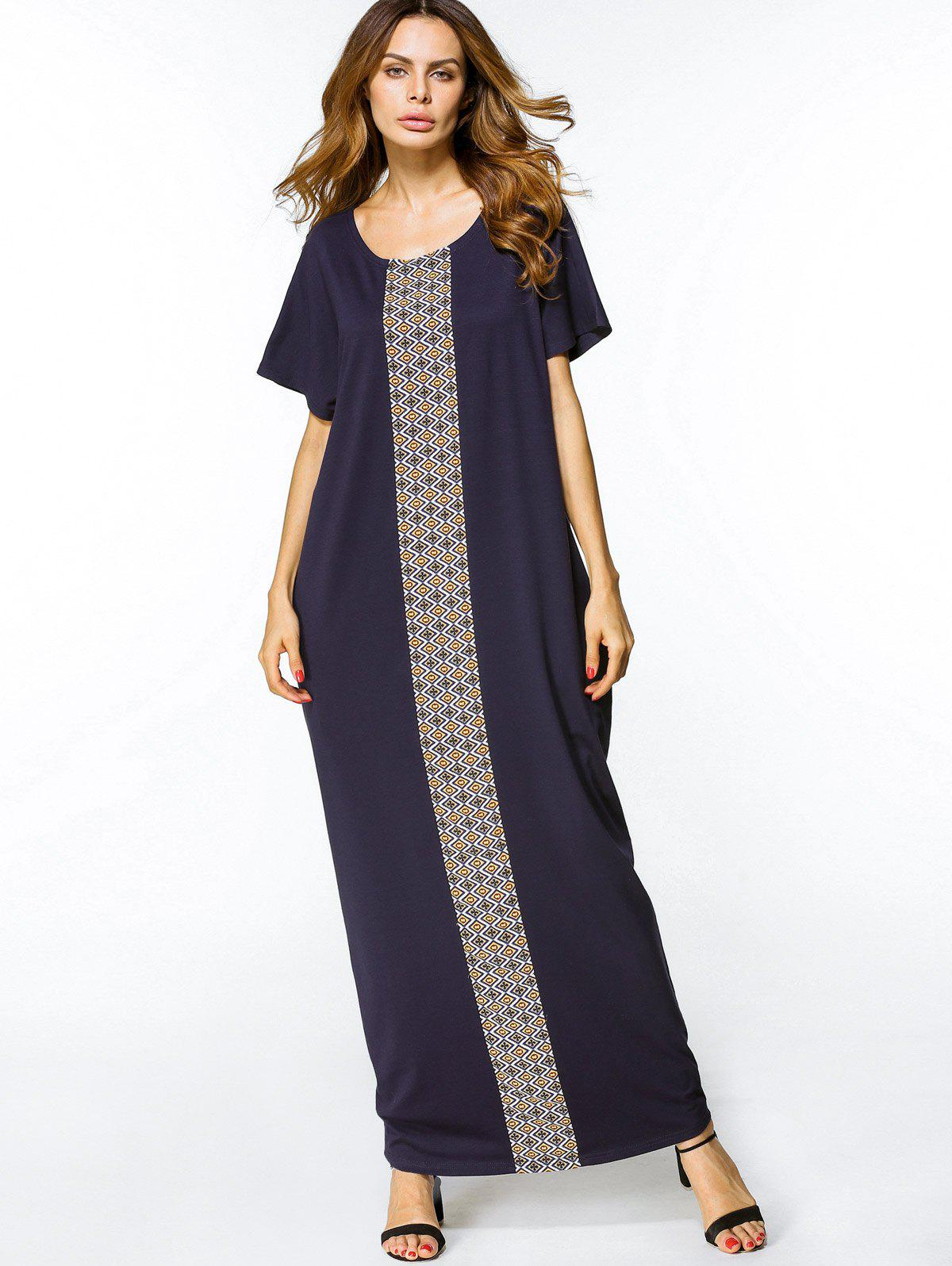Shops Geometric Print Loose Maxi Dress