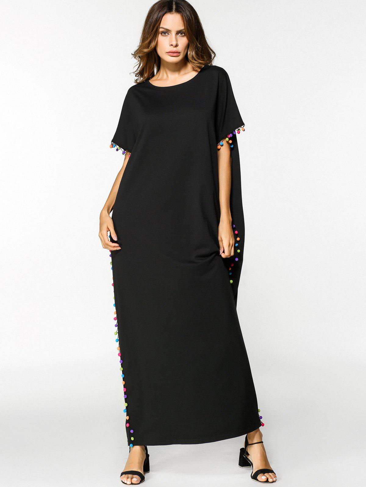 Cheap Lace Trim Casual Loose Maxi Dress