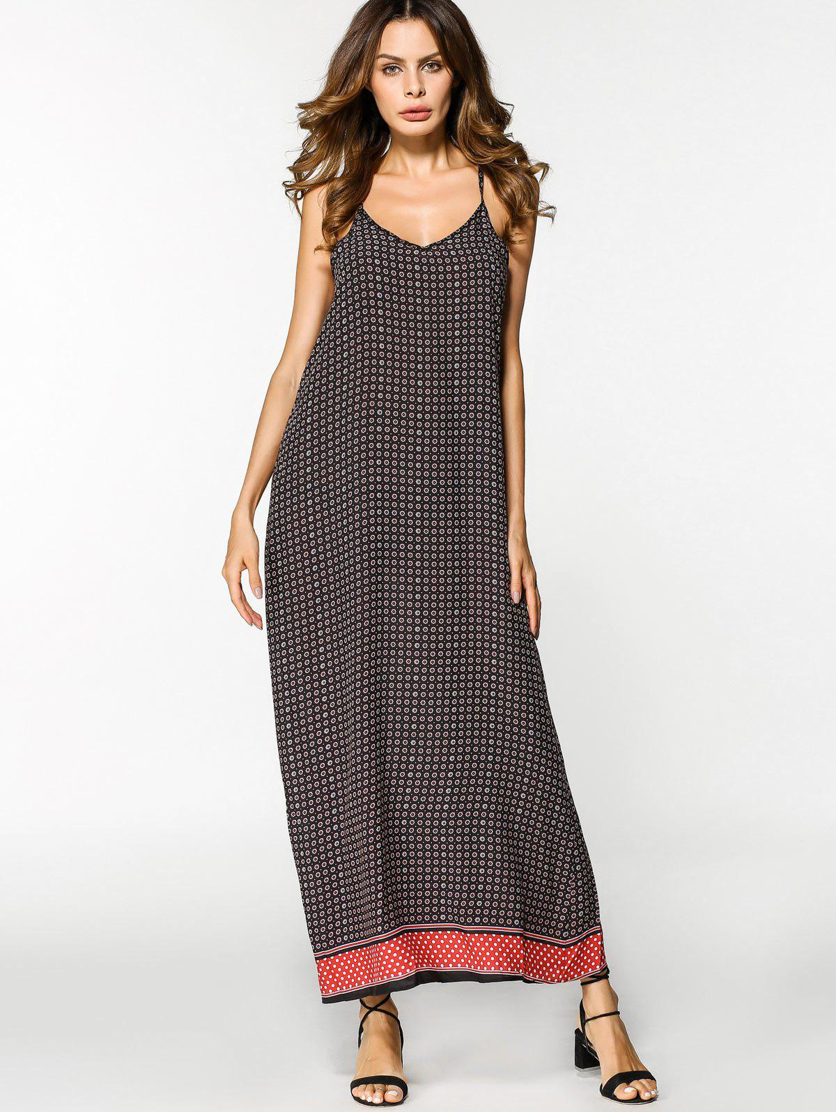 73dbfdcf53f3 78% OFF] Tribal Slip Swing Maxi Dress | Rosegal