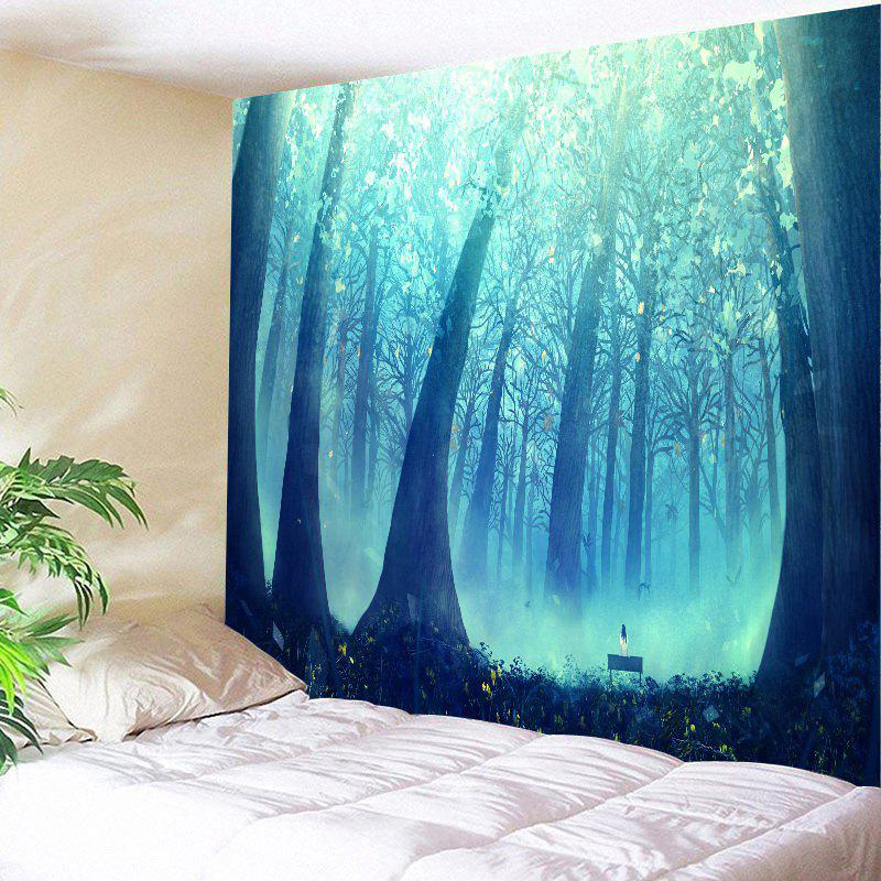 Shops Sunlight Foggy Forest Wall Hanging Tapestry
