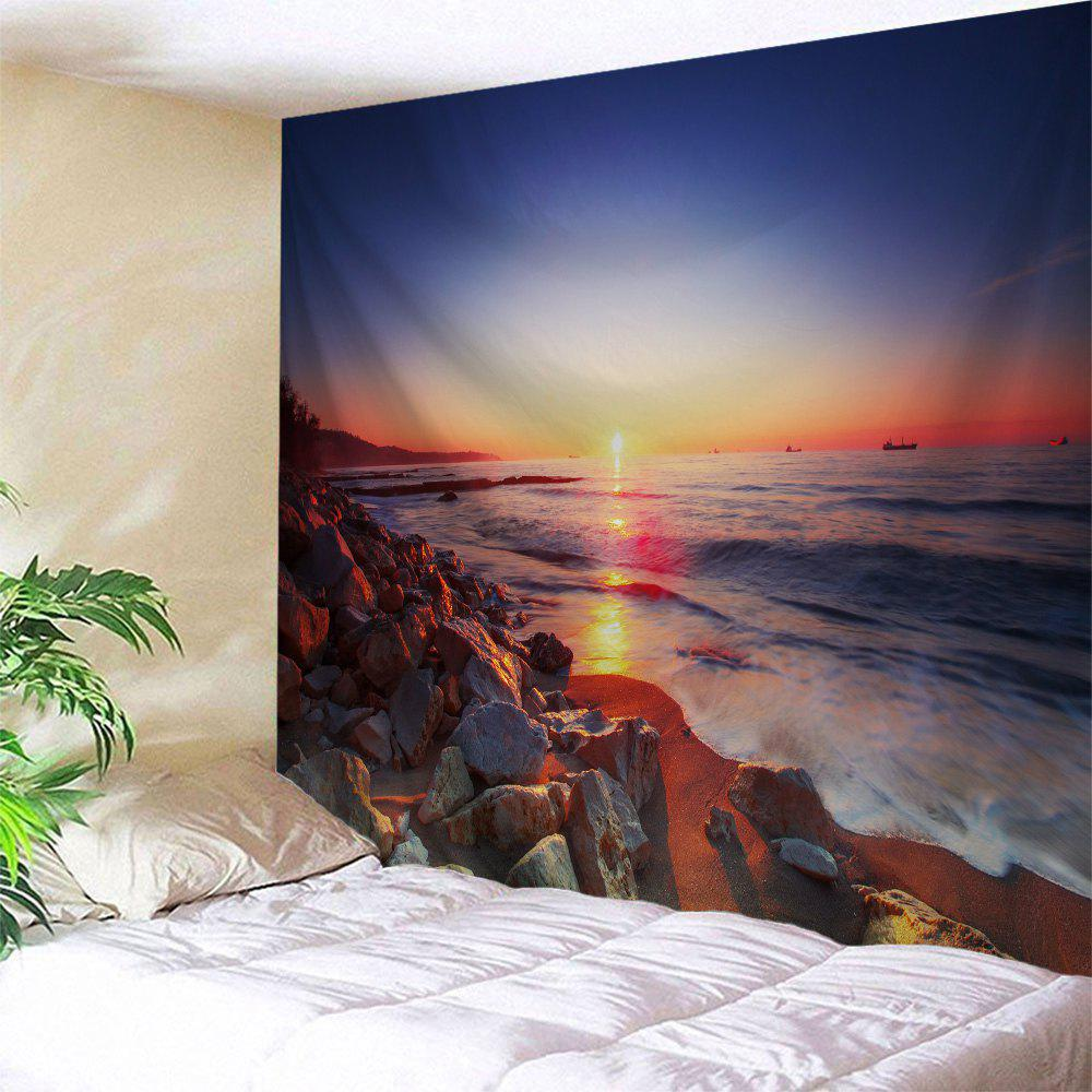 Shops Sunset Beach Stone Print Tapestry Wall Hanging Art Decoration