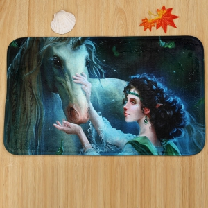 3PCS Fairy Unicorn Housse de toilette et ensemble de tapis de sol -