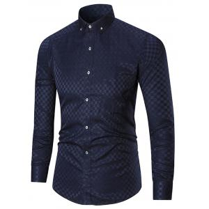 Pocket Button-down Long Sleeve Shirt