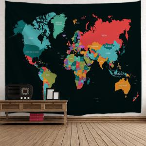 World Map Tapestry Wall Hanging colormix w71 inch * l91 inch world map print tapestry wall hanging