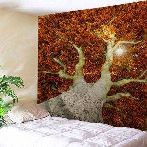 Leafy Tree Print Tapestry Wall Hanging Art Decoration - Darksalmon - W71 Inch * L91 Inch