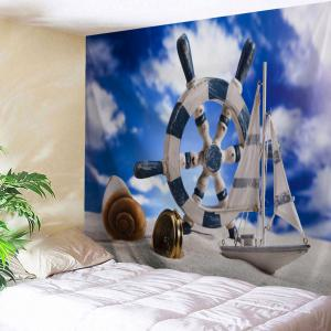 Beach Boat Rudder Print Tapestry Wall Hanging Art Decoration