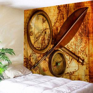 Explorer Retro Map Print Tapestry Wall Hanging Art Decoration