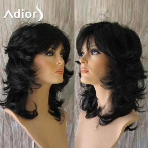 Adiors Medium Side Bang Fluffy Anti-Alice Straight Synthetic Wig