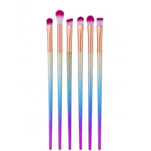 6Pcs Tapered Eye Makeup Brushes Set - MULTI