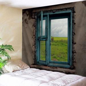 Retro Window View Wall Art Tapestry