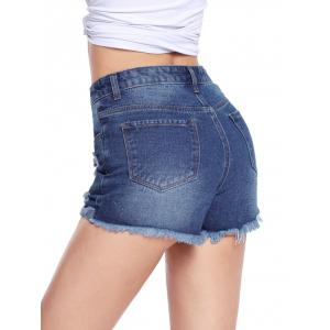 Distressed Cut Off Jean Shorts -