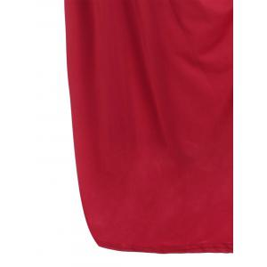 Robe taille grande taille au genou - Rouge 2XL
