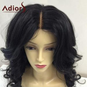 Adidas Long Center Parting Peluche synthétique Fluffy Body Wave - Noir