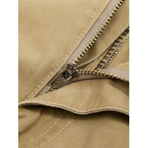 Zip Fly String Pocket Cargo Pants - COFFEE 32
