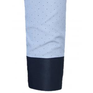 Button Down Dots Print Pocket Shirt - Azur 39