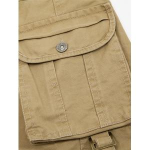 Zip Fly String Pocket Cargo Pants - BLACK 38
