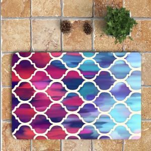 Bohemia Geometric Pattern Nonslip 3Pcs Toilet Bath Mat - COLORFUL