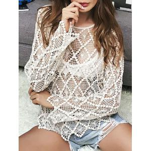 Sheer Crochet Hollow Out Sweater