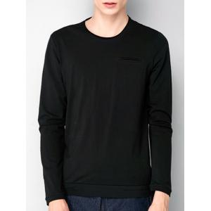 Pocket Stretchy Long Sleeve T-shirt
