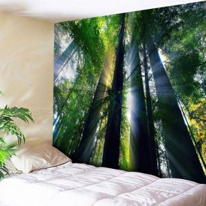 Wall Hanging Sunshine Forest Pattern Tapestry