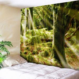 Sunshine Forest Print Wall Tapestry
