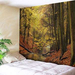 Wall Hanging Forest Stream Print Tapestry
