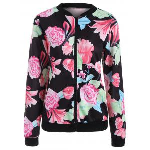 Floral Full Zip Jacket