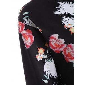 Floral Long Sleeve Zip Up Jacket -