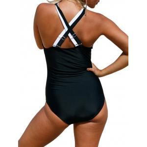 Criss Cross Color Block Swimsuit -