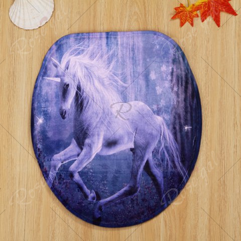 Cheap Antislip 3Pcs Fairyland Unicorn Bathroom Mats Set - PURPLE  Mobile